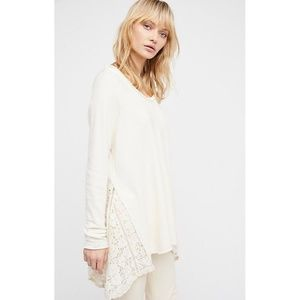NEW Free People Ivory Pullover Sweatshirt $148 XS